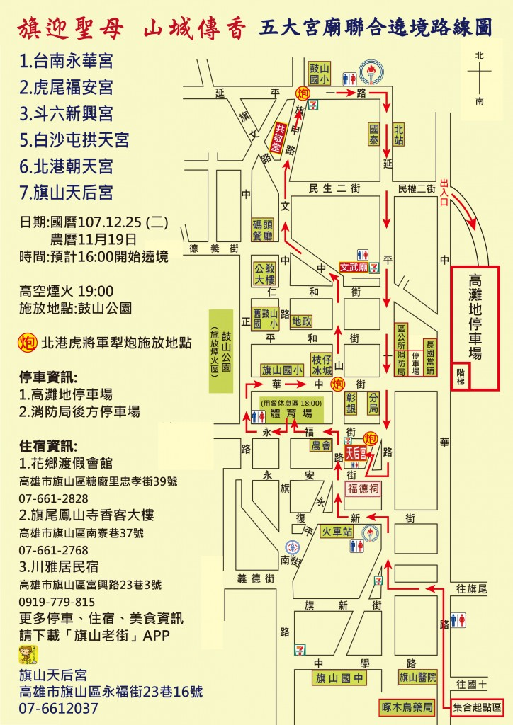 五大宮廟路線圖